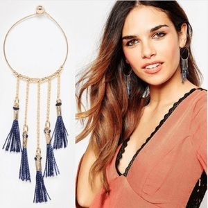 Chandelier Tassel Earrings Gold Tone